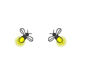 Awesome fireflies mini sizes for fabric embellishment and great add-on to any design/ Glow in the dark special designed machine embroidery