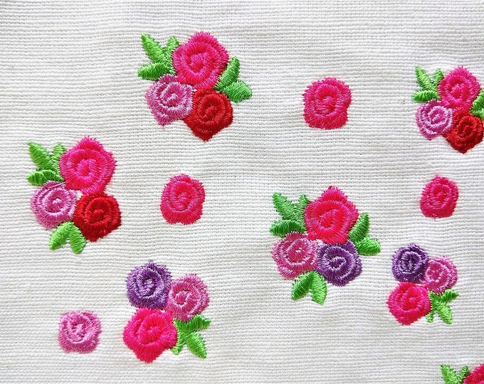 Accent mini rose, small rose, small flower, mini roses, mini, wee, machine embroidery design, Big set 0.8 and 1 inch, rose embroidery