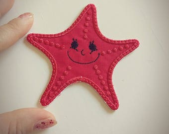 Starfish awesome patch - machine embroidery Starfish  patch applique designs assorted sizes mini designs  INSTANT DOWNLOAD