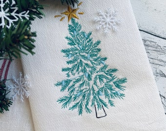 Vintage old fashio0ned Christmas tree Woodlands Tree light stitch Christmas tree embroidery designs 4, 5, 6, 7, 8, 9 and 10 in