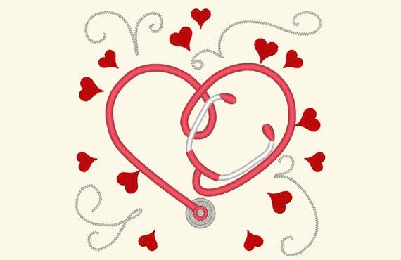 Embroidery file heartbeat alphabet X