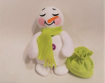 Snowman  ITH embroidery, snowman doll In The Hoop Machine Embroidery designs super simply ITH embroidery