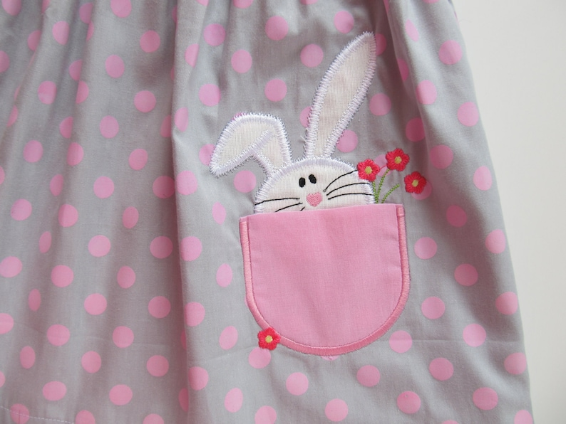 Bunny-Polka Dots 5 inch Easter Decor-Embroidery Hoop