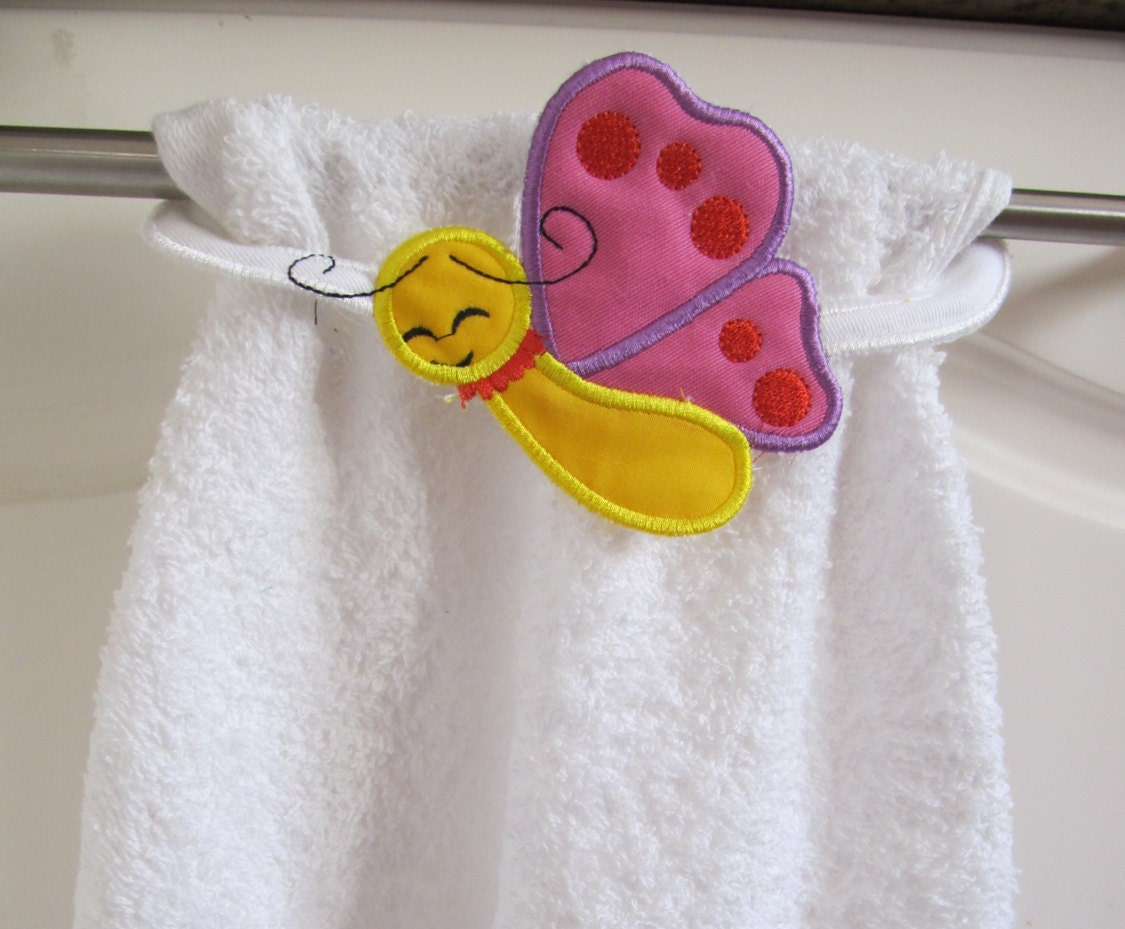 Butterfly Towel topper machine embroidery ITH project ...