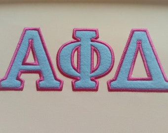 Fraternities and sororities Greek font, alphabet simple applique with contrast outline embroidery font machine embroidery designs