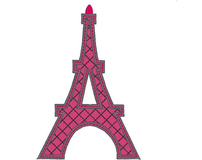 Simply Eiffel tower - machine embroidery applique and filled designs - for hoop 4x4, 5x7  INSTANT DOWNLOAD