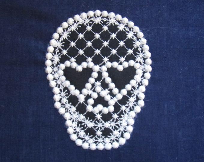Skull, skull applique, trendy cute skull embroidery design, 4x4 5x7 applque