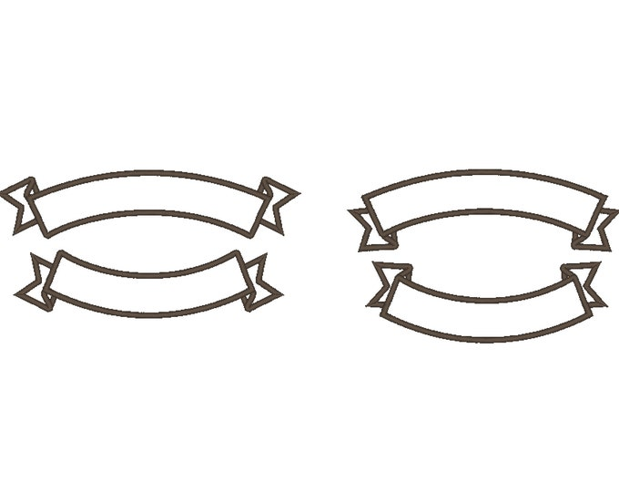 Arc shape banner for Rocker - machine embroidery applique designs for hoop 4x4 and 6x10, 8x12  INSTANT DOWNLOAD
