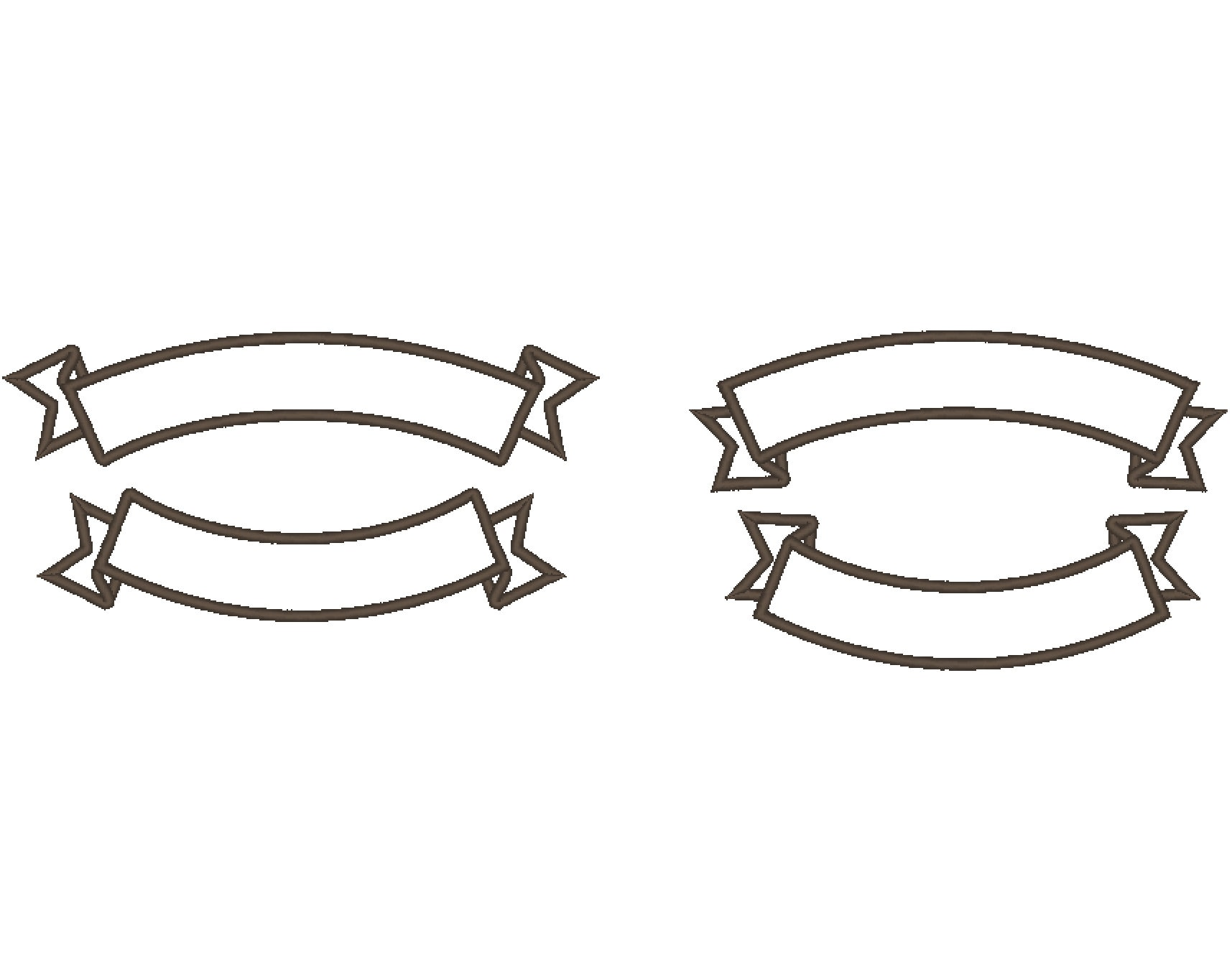 Arc Shape Banner For Rocker Machine Embroidery Applique