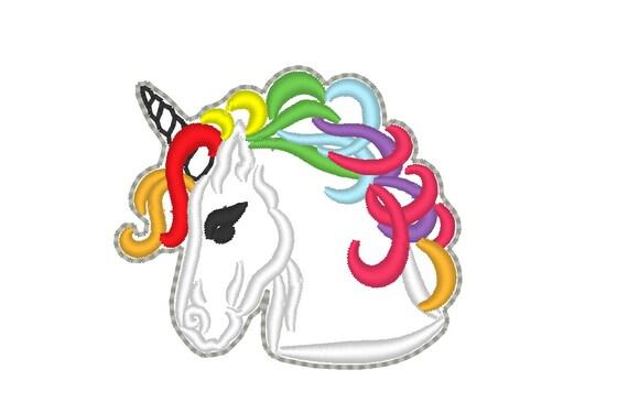 Regenbogen Pony Kopf Umriss Key Fob Feltie Stickmaschine   Etsy