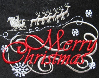 Merry Christmas - machine embroidery designs  5x7   INSTANT DOWNLOAD