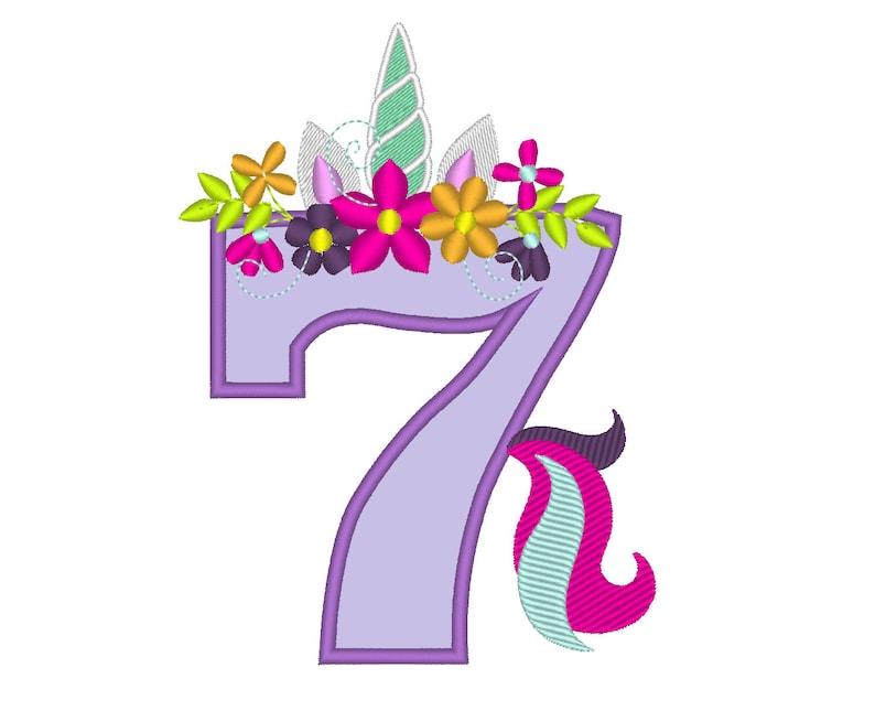 number 7 design for birthday