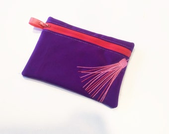 Tassel Pouch, Envelope ITH, Pocket, ITH, bag, zip bag, In The Hoop Machine Embroidery designs In-The-Hoop 5x7 6x10 8x8 8x12