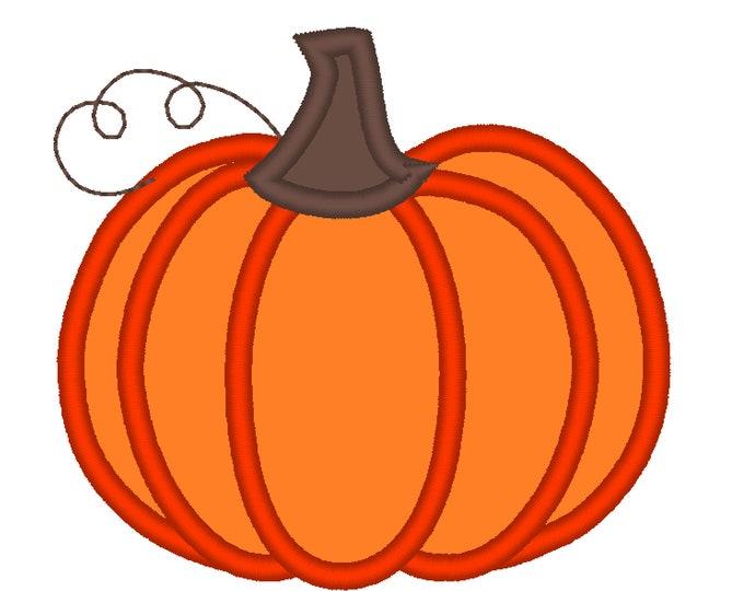 """Classic Pumpkin Applique Design ~ Fall Pumpkin - awesome classic pumpkin machine embroidery applique design, pumpkin applique 4, 5, 6, 7, 8"""""""