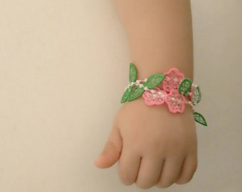 Lace baby bracelet FSL, Free standing jewelry embroidery design  4x4  water soluble stabilizer EMBROIDERY