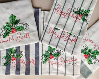 Merry Christmas 6 quotes sayings machine embroidery designs merry Christmas, Happy Holidays, Merry and Bright