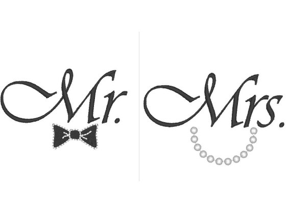 mr and mrs great for wedding gifts machine embroidery etsy