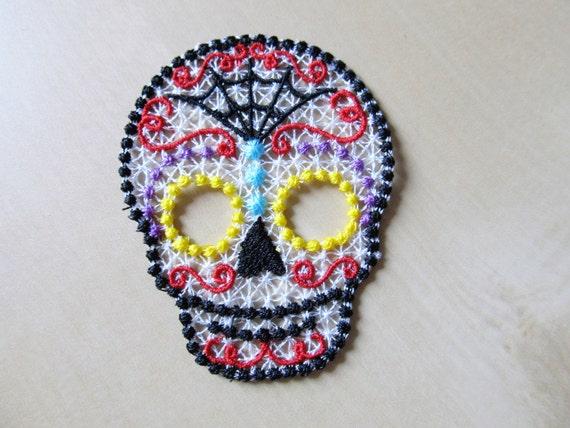 FSL Free Standing Lace Day Of The Dead Sugar Skull Calavera