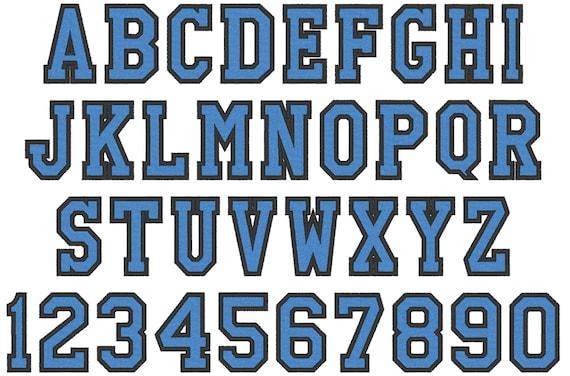 Varsity Collegiate Collegiate Block Type Font Machine Etsy