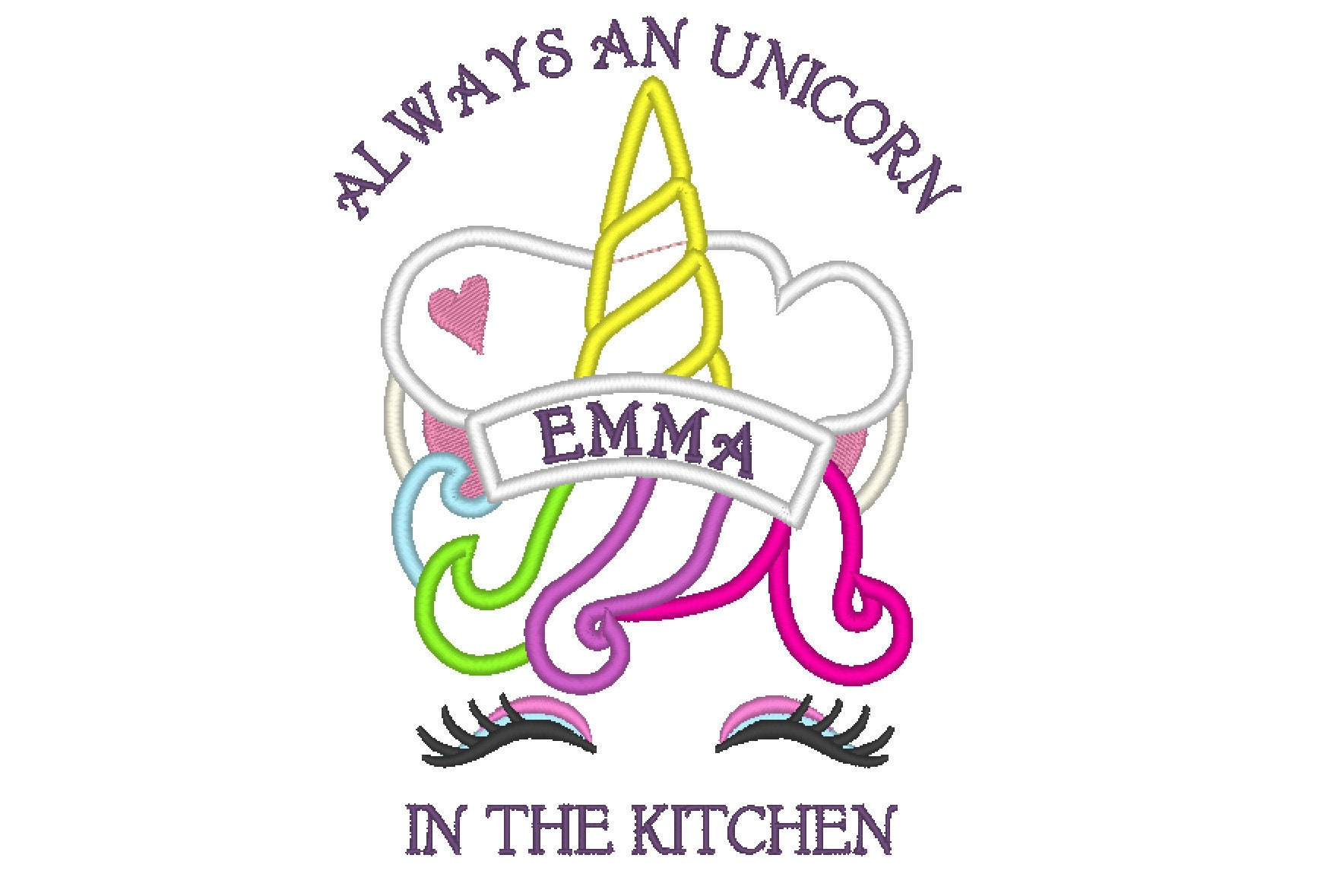 Always and unicorn in the kitchen apron cute for kids ...