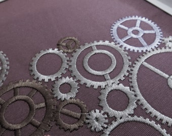 Stem punk, steampunk gears collection, gear, gear steam-punk embroidery designs, pulleys, wheels, many variations INSTANT DOWNLOAD