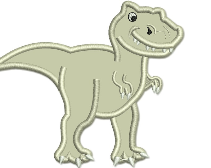 T-rex dinosaur machine embroidery and applique designs - assorted sizes, for hoops 4x4, 5x7, 6x10  INSTANT DOWNLOAD