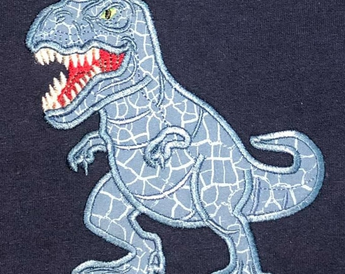 Realistic T-rex dinosaur machine embroidery applique designs - assorted sizes, for hoops 4x4, 5x7, 6x10 INSTANT DOWNLOAD