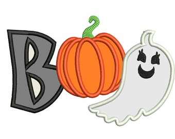 Boo, Little boo, Halloween - machine embroidery applique designs INSTANT DOWNLOAD for hoops 4x4, 5x7