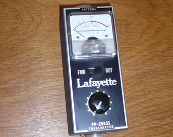 Lafayette SWR & Field Strength Meter with box, instructions, and warranty