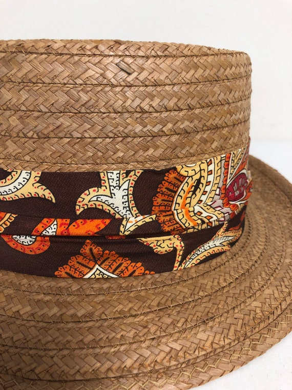 Knox Grabber Woven Straw Hat 1950s/60s
