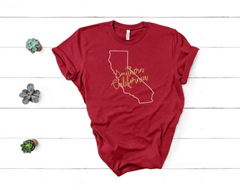 104ce4becc3 USC Shirt   Southern California Shirt   Inspired Game Day Shirt   Team USC  Shirt   Trojan Shirt for Her   Custom California Shirts  Team Tee