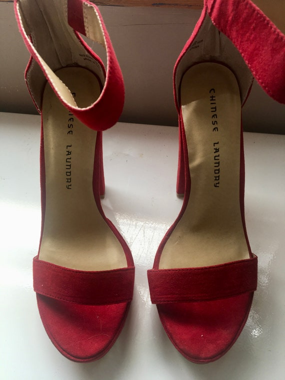 e1ae15ac1b0 Chinese Laundry Red Hot Heels US Size 6.5