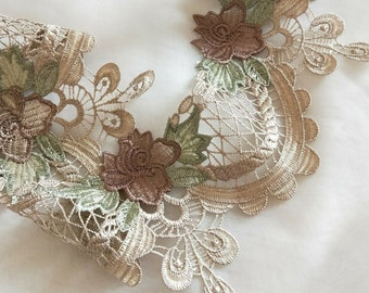 """1.75/"""" White Black Ivory Brown Red 13 Colors Venice Lace Trim Guipure By Yardage"""