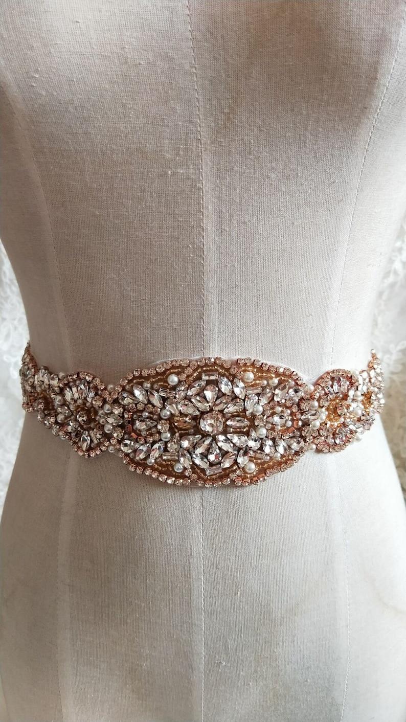 Luxury Rhinestone Crystal Lace Trim 2.55 Wide For Bridal Accessories Wedding Dress Sash Belt Headband Straps Costume Embellishment 3 Colors