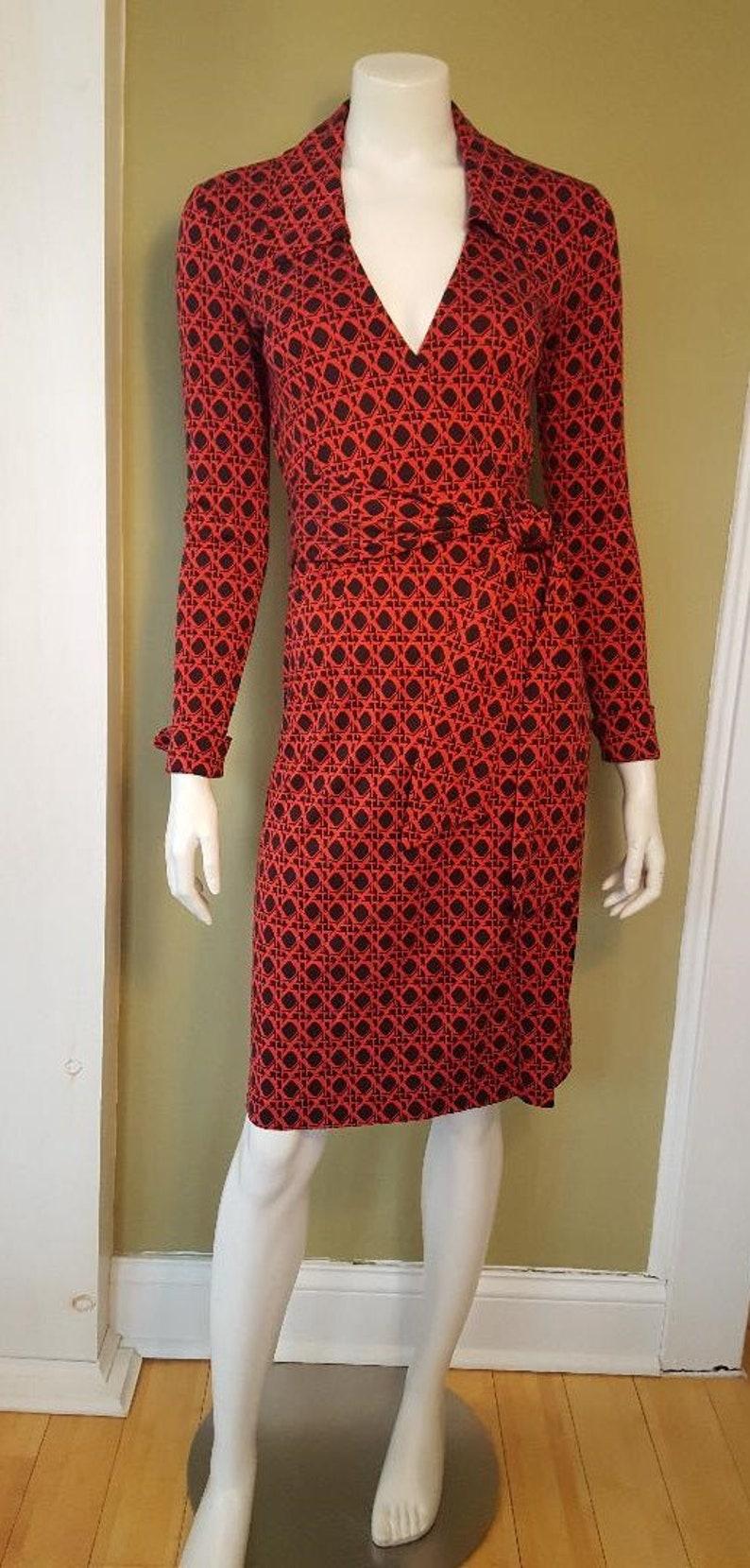 2b1bcfb393a28 Diane Von Furstenberg DVF Wrap Dress Vintage 90s Silk Jersey   Etsy