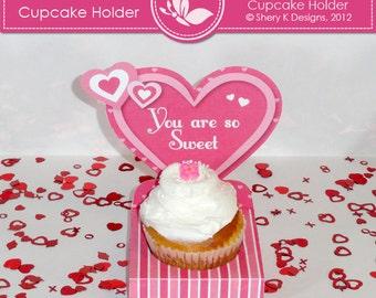 Printable Valentine Cupcake Holder