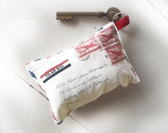 french key chain , mini pillow french aeropostale letter