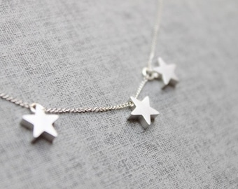 Simple Three STAR Necklace - S2075-1