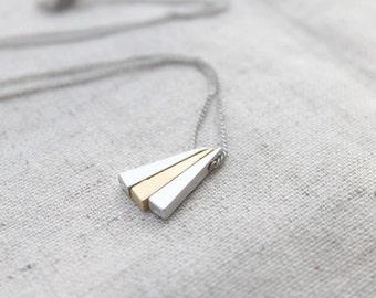 Tiny Triangle Necklace - S2287 -1