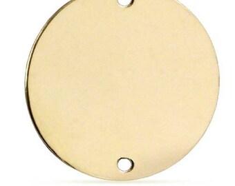 Gold Filled hammered sequins pendant Gold Filled Round Blanks 2 pcs 14k Gold Filled Hammered Disc Charm Hammered Disc Blanks