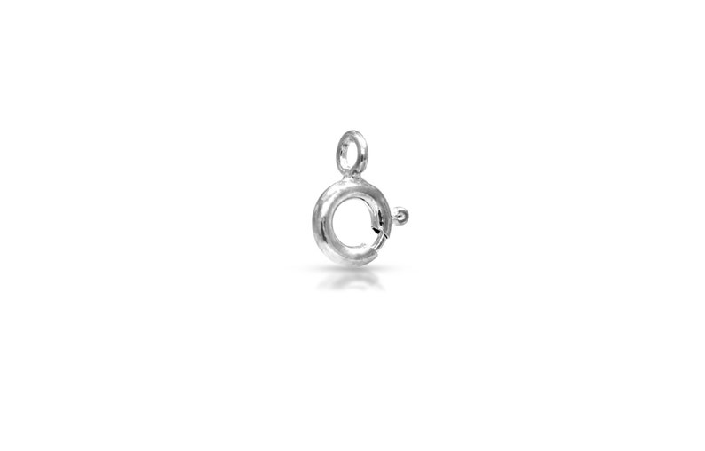 3060 Sterling Silver 5.5mm Spring Ring with Closed Ring 100pcs //5