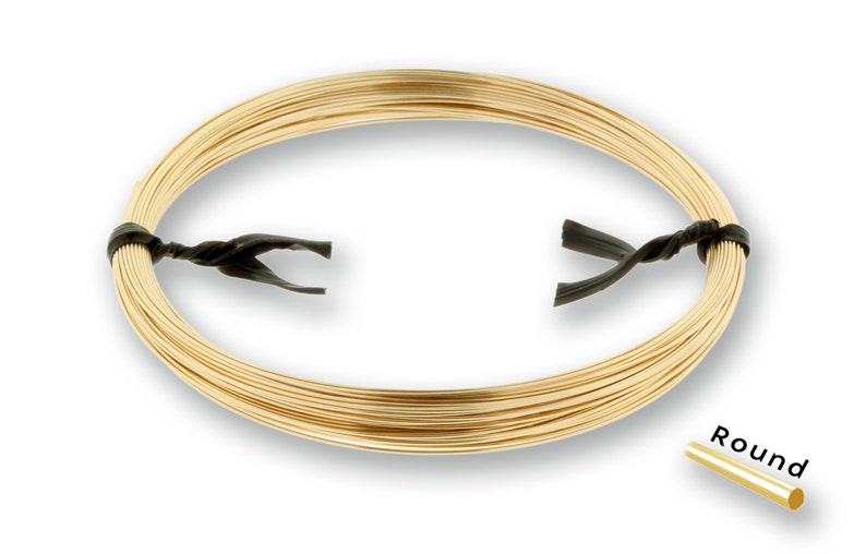 14Kt Gold Filled 22gauge Half Hard Round Wire 1ozt NEW low Wholesale Price 1 2187 Made in USA