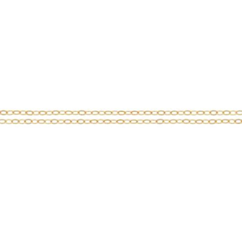 Flat Cable Chain 2306-100 100ft Bulk Quantity Discounted Price 1 14Kt Gold Filled 1.5x1.2mm Chains