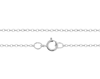 Sterling Silver 1.2mm 22 INCH Rolo Chain with Spring ring - 5pcs (2748)/5