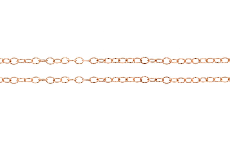 1.6x1.3mm Gold de Rose Gold 1.6x1.3mm Filled 14 carats chaîne du câble - 100ft Made in USA en quantité en gros 30 % réduit le prix le plus bas (4804-100) / 1 bc28c1