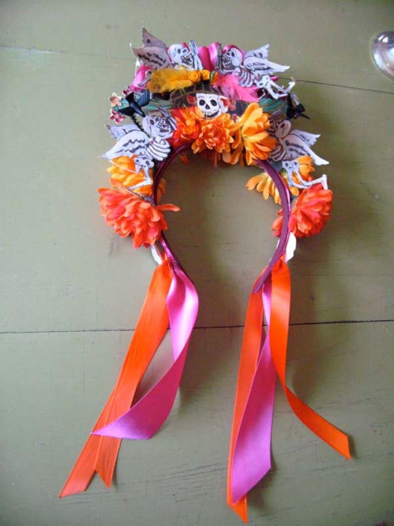 Dia De Los Muertos Headband Day of the Dead Headpiece Flower image 0