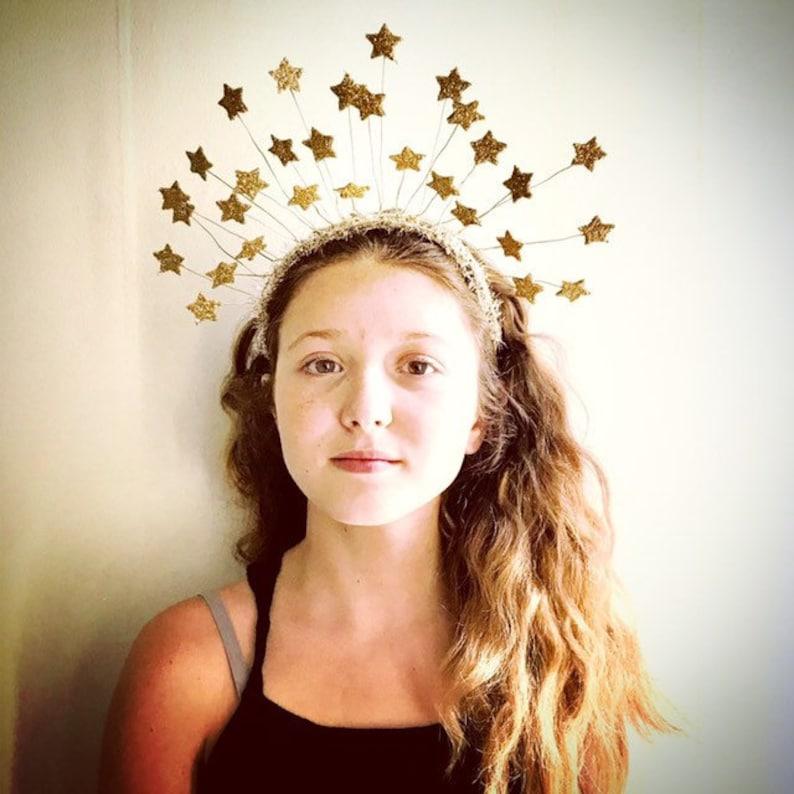 Gold Star Headband Tiara image 0