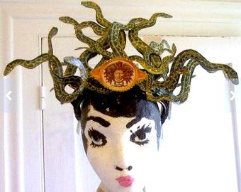 medusa snake headpiece crown tiara costume
