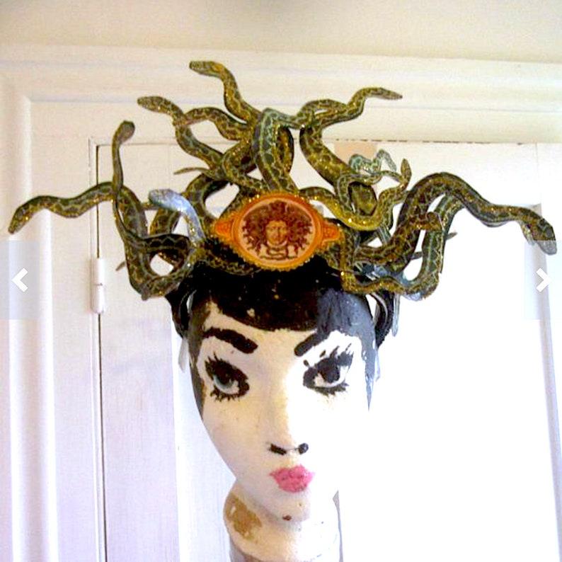 medusa snake headpiece crown tiara costume image 0