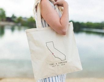 Canvas Tote Bag Party Favors Shoulder Bag Welcome Bag Custom tote bag Love Never Fails Guest Favors
